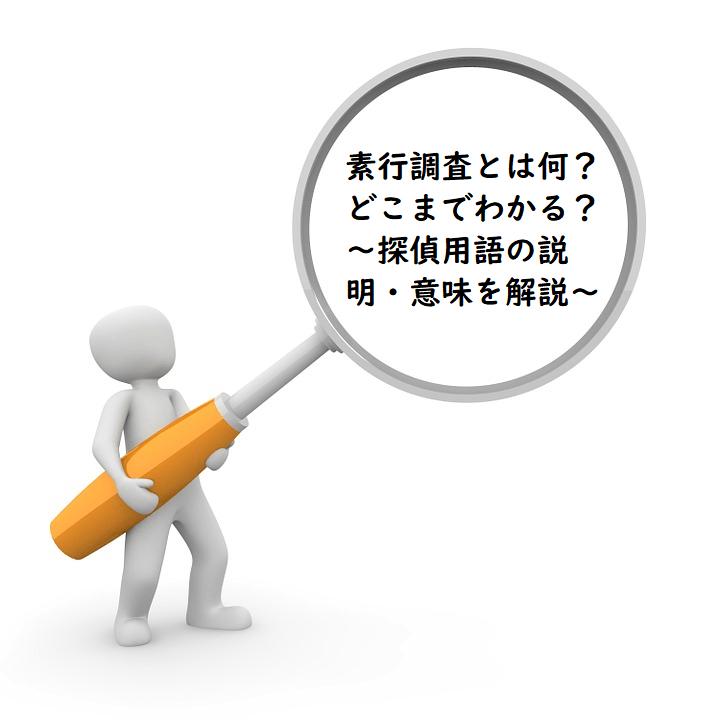 素行調査とは何?どこまでわかる?~探偵用語の説明・意味を解説~