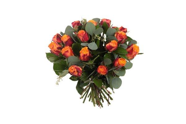 Oranje rozen boeket   Boeket maxima   Uwbloemenman.nl