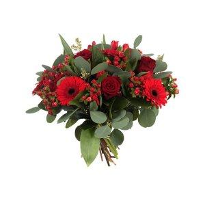 Romantisch boeket rood