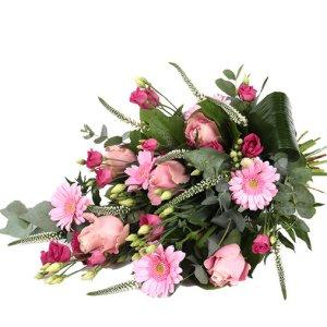 Mooi roze boeket Uwbloemenman.nl