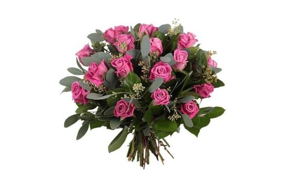 Roze rozen boeket | Boeket emma | boeketten Uwbloemenman.nl