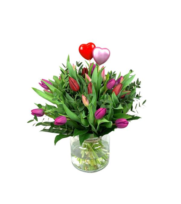 Valentijn boeket | Uwbloemenman.nl