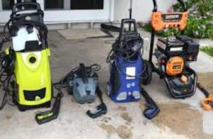 many types of power washers