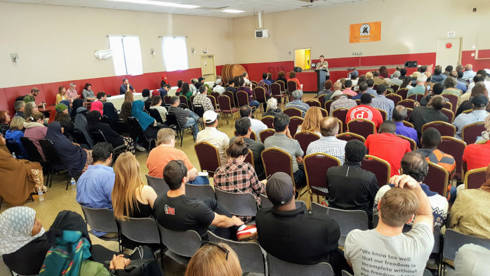 A Town Hall Meeting held at The East African Cultural and Community Center in 2017