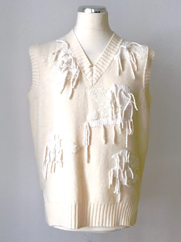 White-Camou www.uweurbansky.de Uwe Urbansky, Berlin, Strick, Strickdesign, Handmade, Pullunder