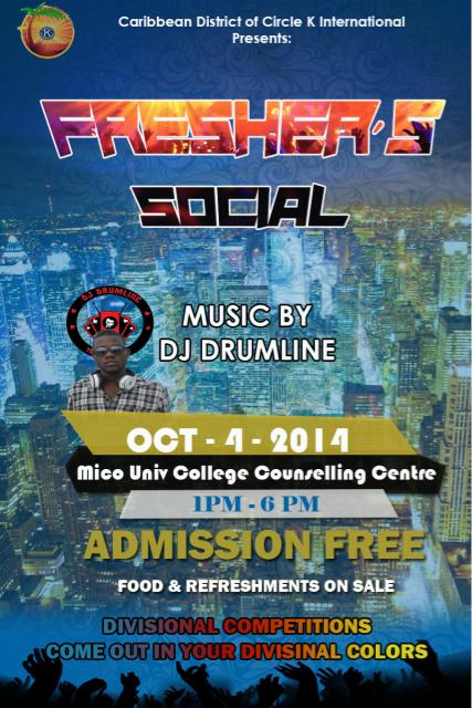 University of the West Indies Mona Circle K International Club District: Freshers Social featured image