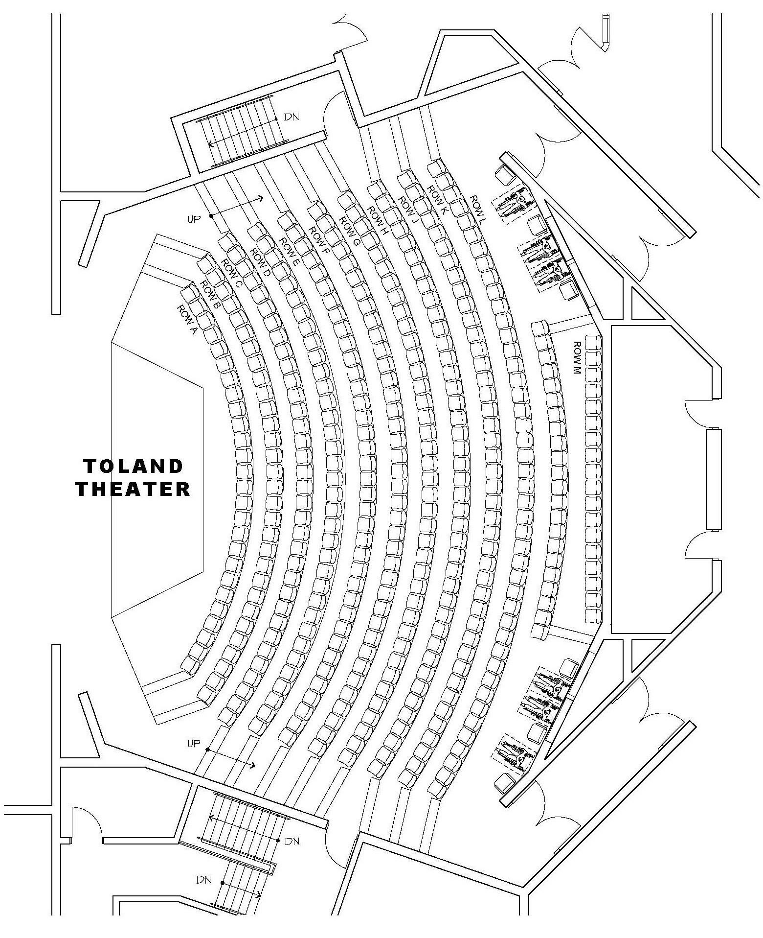 Seating Charts Theatre Arts