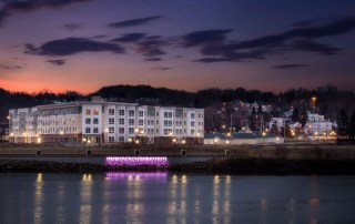 555-ONE at DeLaet's Landing Luxury Riverfront Apartments Hudson River in Rensselaer, NY