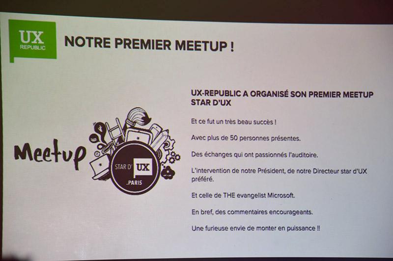 UXDAY 11 - Notre premier Meetup fut un succès.