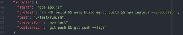 Scripts part in JS-Republic website's package.json