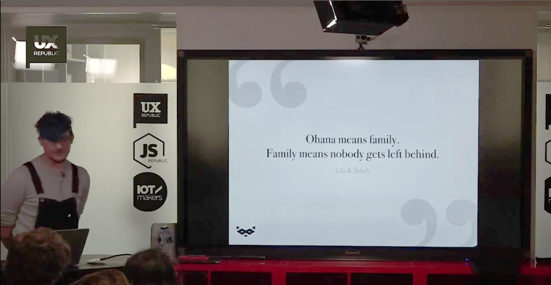 Damien Senger UX Designer pendant le meetup UX et Accessibilité chez UX Republic