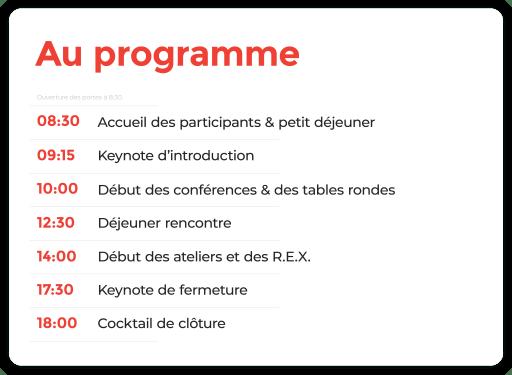 UX-CONF Le programme
