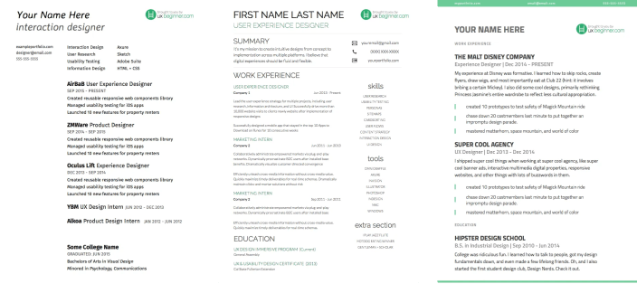 3-UX-Resume-Templates-Side-by-Side