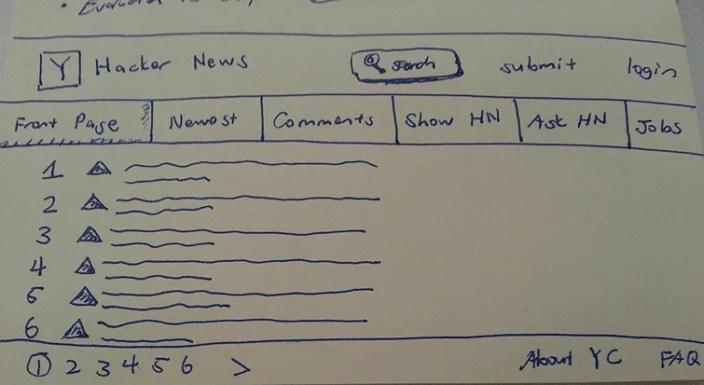 UX-Beginner-Hacker-News-HN-Sketch