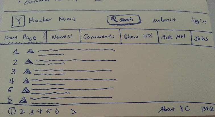 UX-Beginner-Hacker-News-HN-Sketch