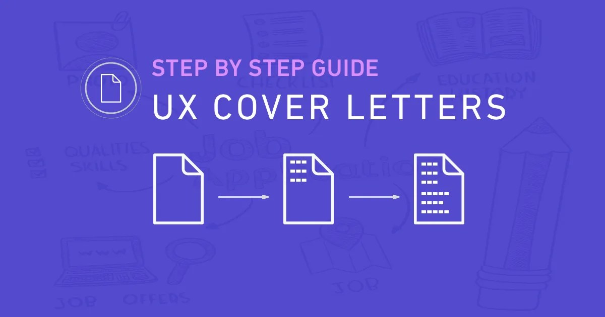 ux cover letters  u2013 a step by step guide