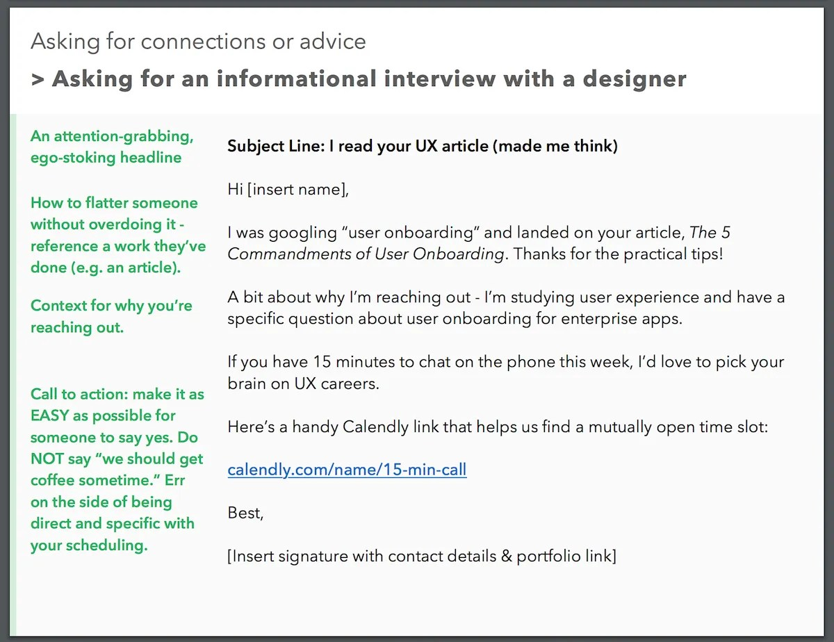 Delightful Ux Informational Interview Template