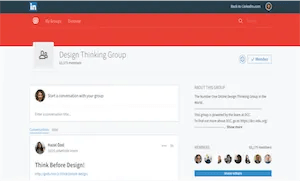 best-ux-design-communities-groups-Design Thinking Group