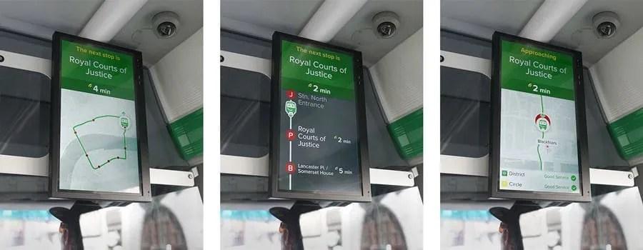 smart bus screen city mapper