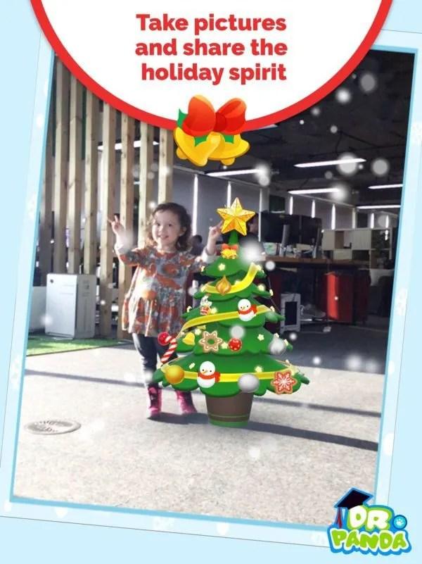 ar app Christmas tree
