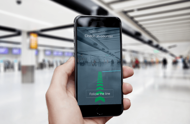 ar navigation intelligent airport gatwick