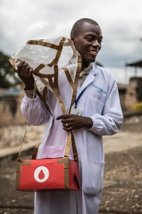 zipline drone delivery rwanda blood