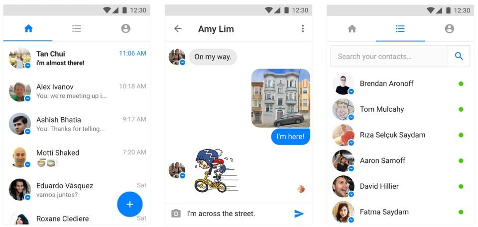 messenger lite screenshot