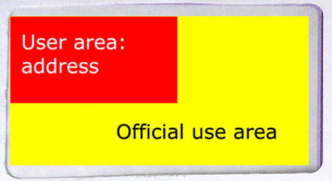 Space for official-use information