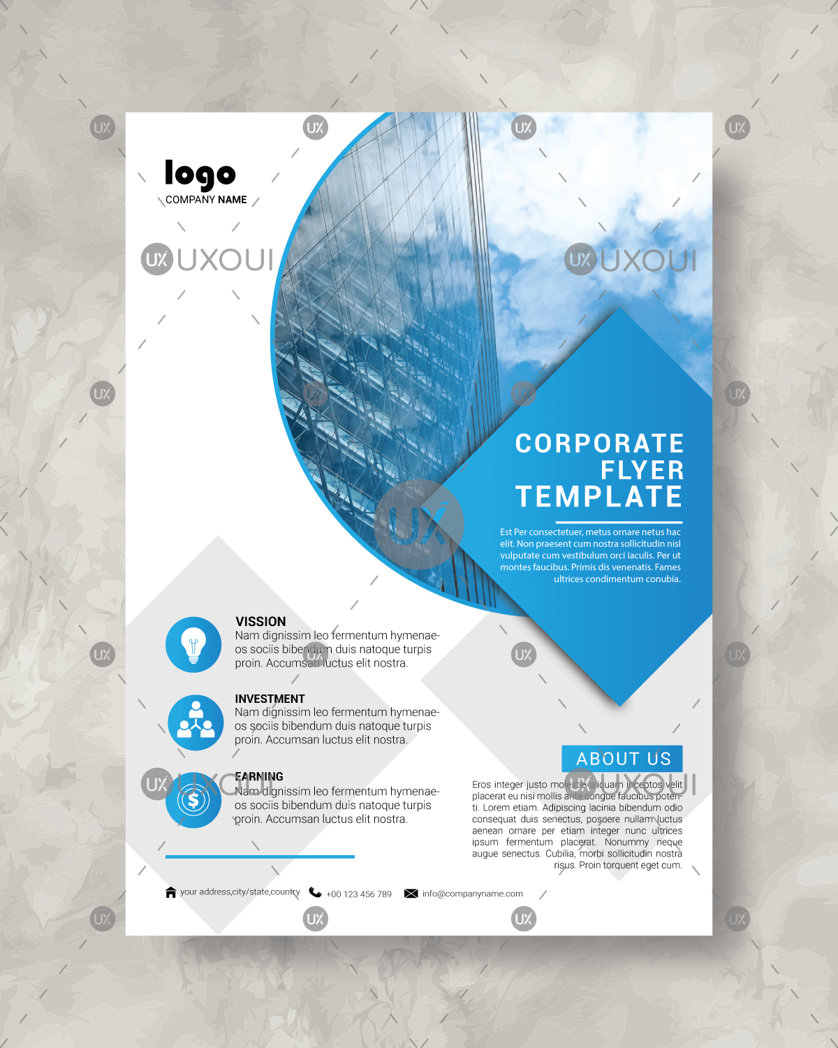Abstract white blue corporate business flyer design template abstract white blue corporate business flyer design template vector accmission Choice Image