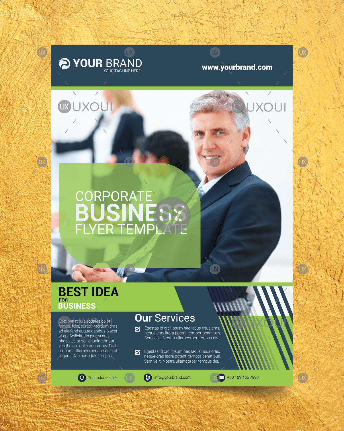 Corporate business flyer design template vector with creative layout corporate business flyer design template accmission Choice Image