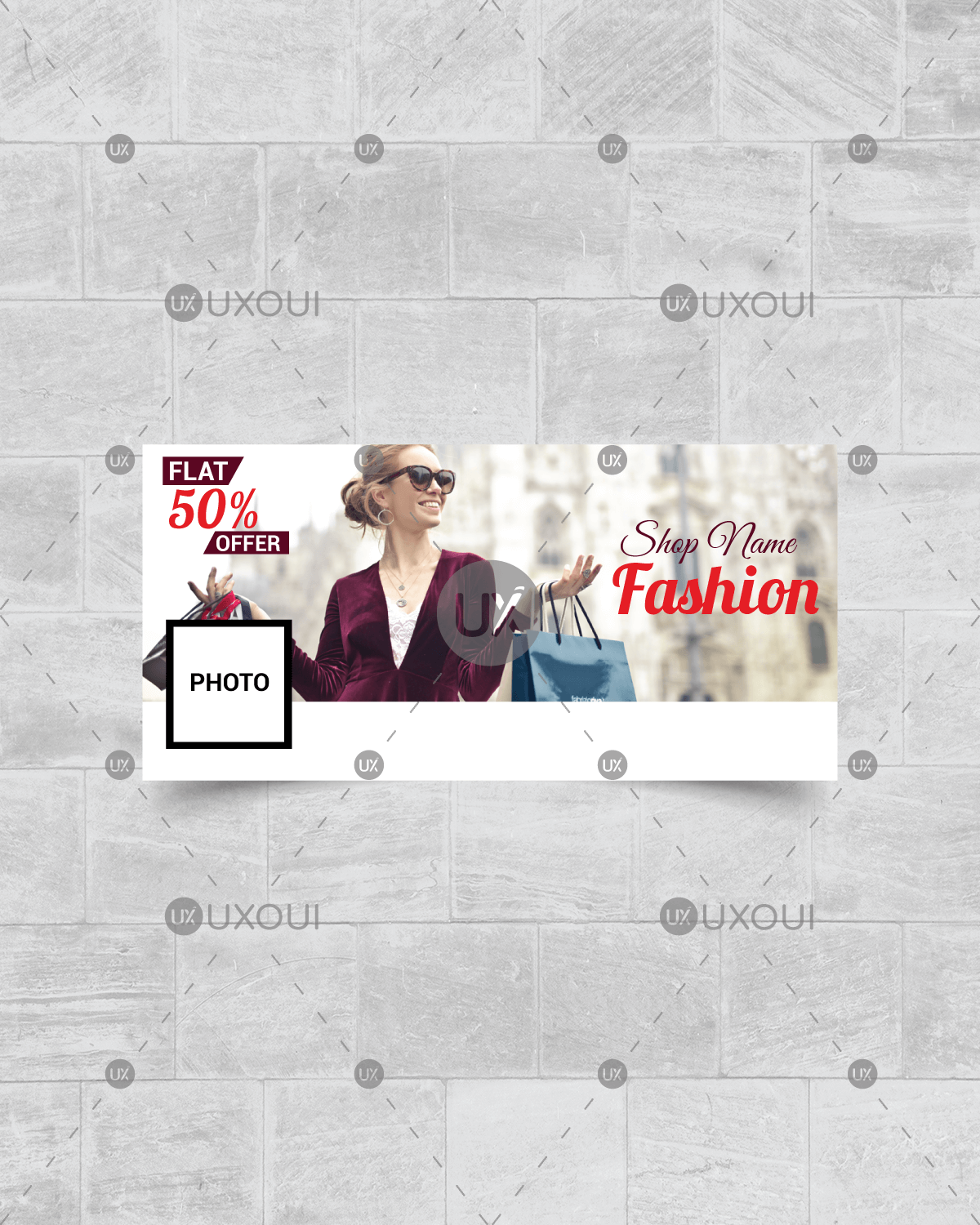 Fashion Style Facebook Timeline Cover Photo Template Design Vector