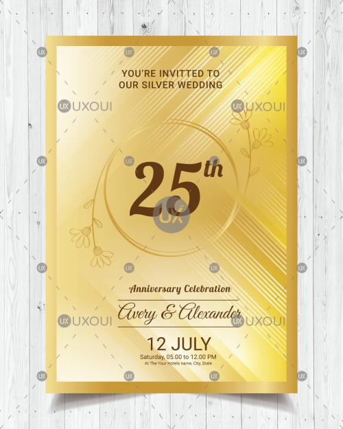Wedding Anniversary Card Design Freelance Services