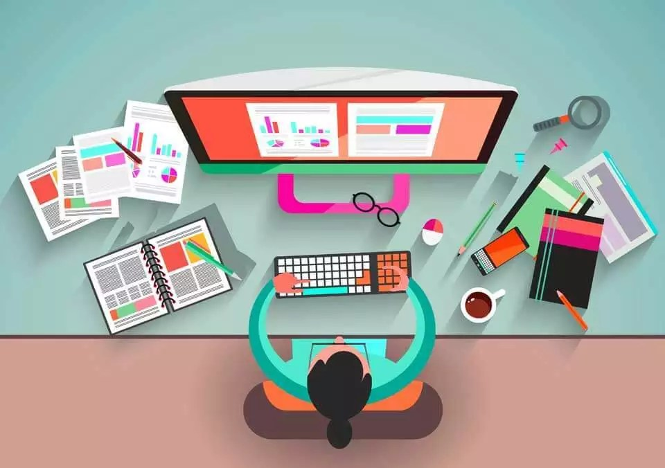 The webdesign in website creation