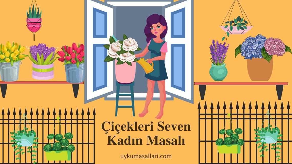 Çiçekleri Seven Kadın
