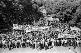 """imagen del contenido Inauguran Marca de la Memoria en el Obelisco para recordar el """"Río de Libertad"""""""