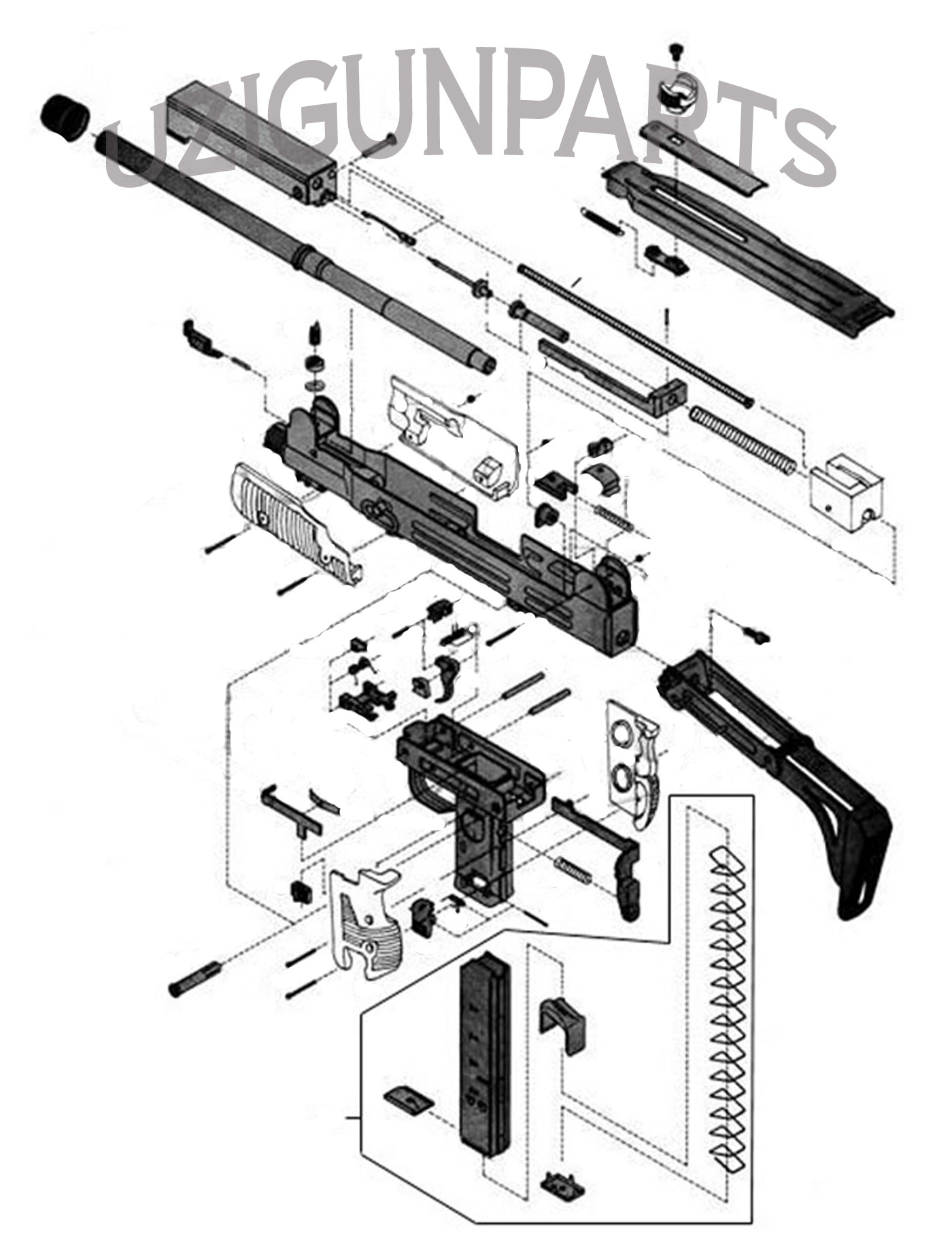 Uzi Semi Auto Diagram