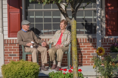 Elderly Couple at their Senior Cottage in Lititz, PA