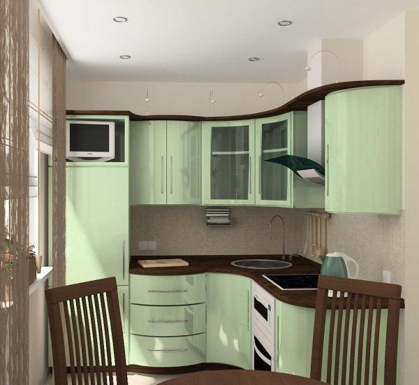 Дизайн кухни в хрущёвке - 17 фото для вдохновения