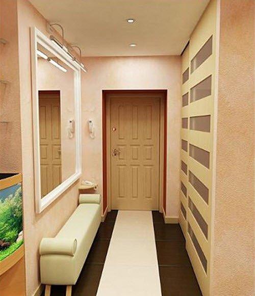 Дизайн маленького коридора - 40 фото для вдохновения