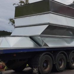 Large duct on trailer