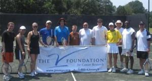 Participants in the 2010 Racquets for Research Media Day