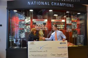 Crown Imports Presents Check to The V Foundation