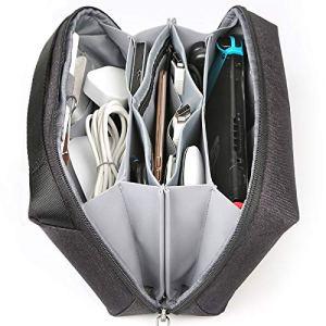 Inateck Custodia Cavi Organizzatore di Viaggio per Accessori, Organizer cavi Resistente all'acqua, Borsa per Caricatore, Cavi USB, Power Bank Mouse, Cuffie, Schede gioch