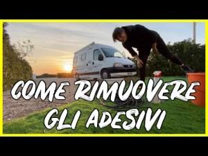 COME RIMUOVERE GLI ADESIVI | Lavori al nostro Ducato Van Camper