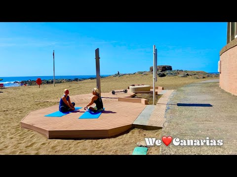 Gran Canaria Relaxing Beachwalk with Ocean Noise | We❤️Canarias
