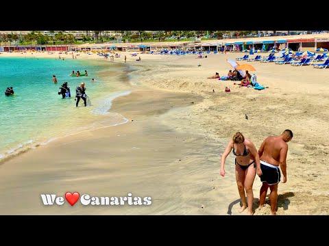 Gran Canaria Amadores Beach Life on a Sunny Cloudy Day   We❤️Canarias