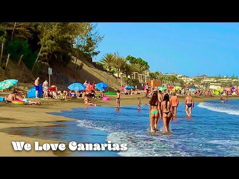 Gran Canaria Playa del Ingles Beach Life   We❤️Canarias