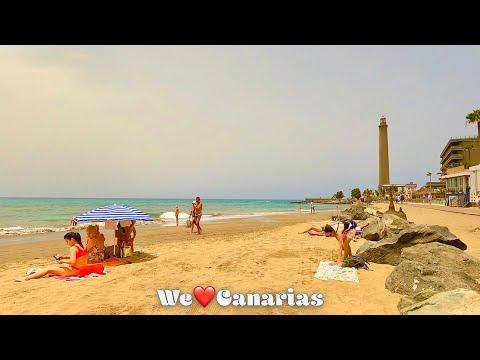 Gran Canaria Maspalomas 32°C Calima Weather Special   We❤️Canarias