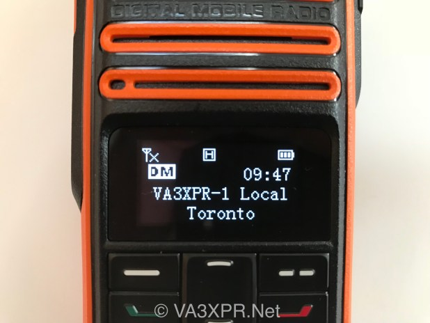 OLED display Hytera TD580 UHF DMR radio ham