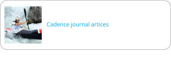 Cadence journal artices